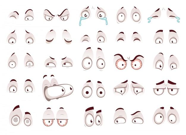 Olhos de desenho animado