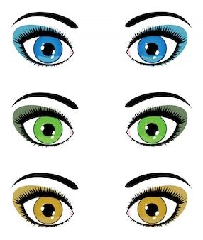 Olhos femininos
