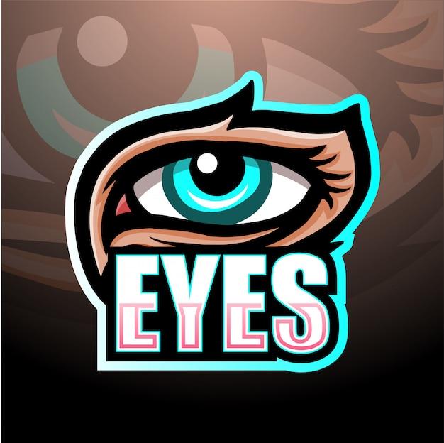 Olhos mascote esport ilustração