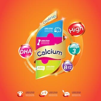 Ômega cálcio e vitamina