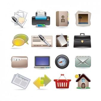On-line coleção do ícone do negócio