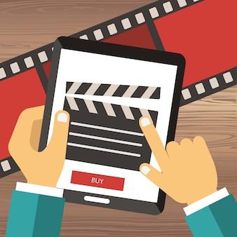 On line encomende ingressos de cinema