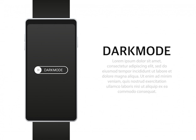 On off switch switcher de modo escuro para telas de telefone botões claros e escuros