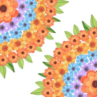 Onam aquarela decoração floral