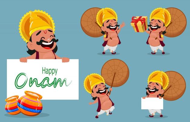 Onam celebração. rei mahabali