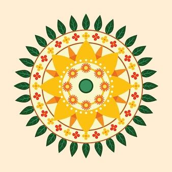 Onam conceito de decoração floral