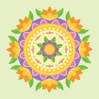 Onam decoração floral