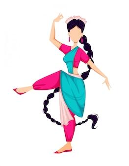Onam feliz, mulher indiana dançando