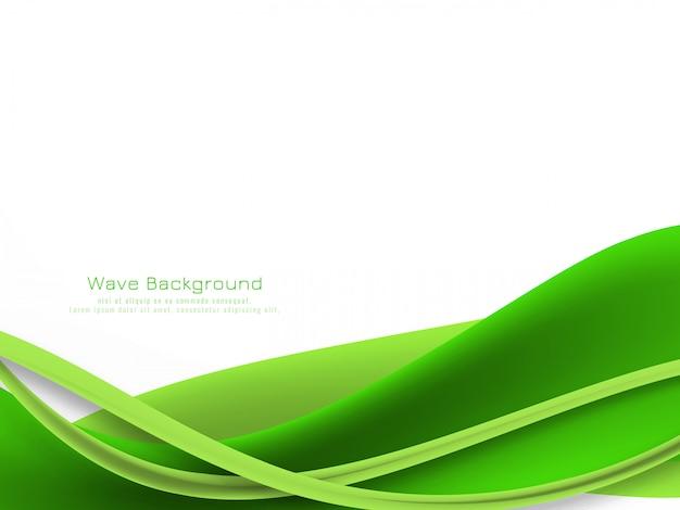 Onda abstrata de cor verde