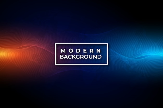 Onda abstrata de tecnologia moderna vermelha e azul