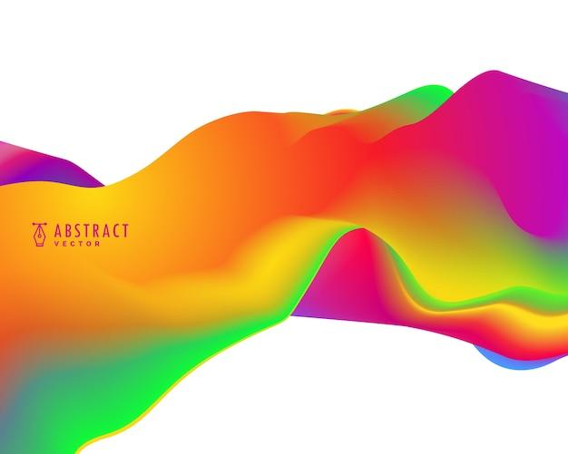 Onda abstrato moderno em cores vibrantes