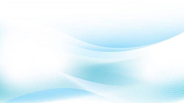 Onda azul abstrato