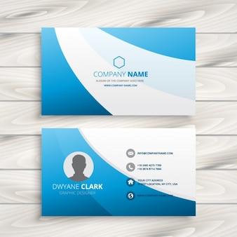Onda azul cartão limpo