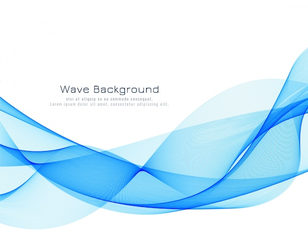 Onda azul dinâmica abstrata