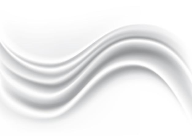Onda branca tecido de seda fundo abstrato
