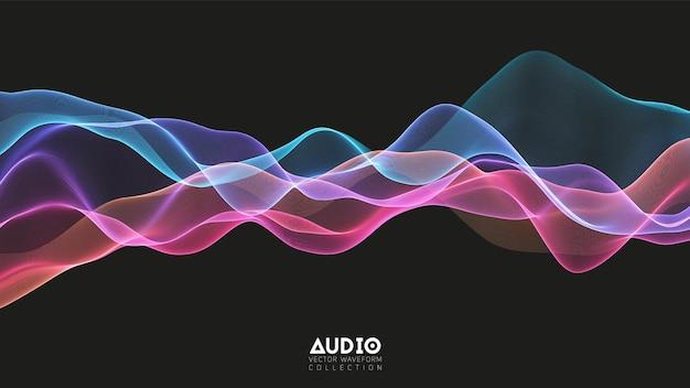 Onda de áudio de eco 3d do espectro