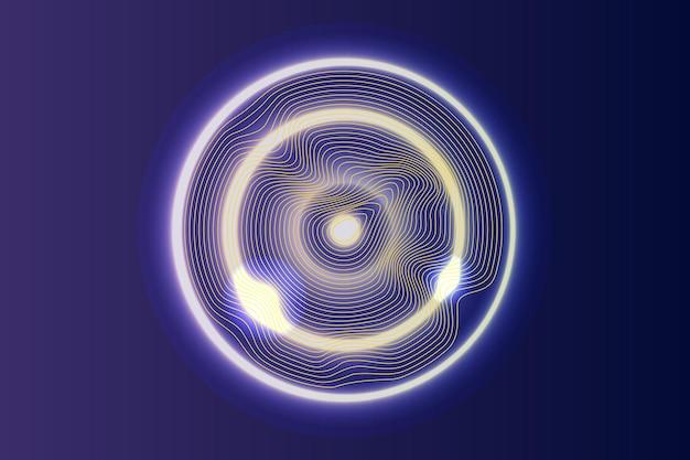Onda de círculo sonoro ou visualização de big data. fundo da linha abstrata. ilustração vetorial