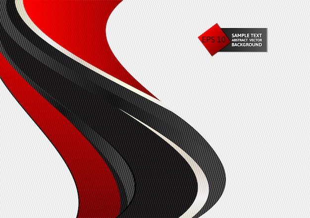 Onda de cor vermelha e preta abstraem base