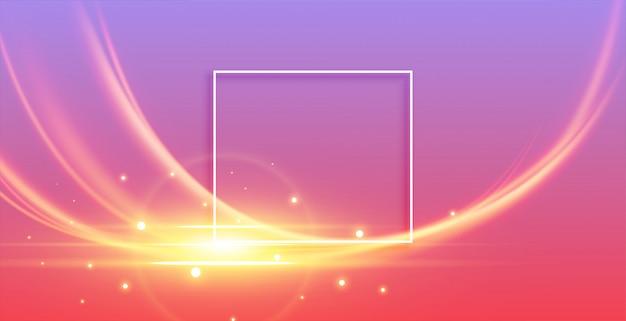 Onda de luz abstrata brilhante com brilhos