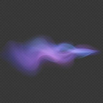 Onda de luz néon redemoinho sobreposição flare rastreamento efeito isolado em fundo transparente.