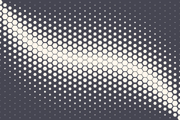 Onda de oscilação de meio-tom geométrico de meio-tom hexagonal abstrato de fundo