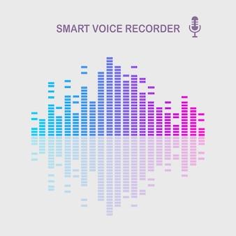Onda de som de áudio do equalizador. frequência da música no espectro de cores.