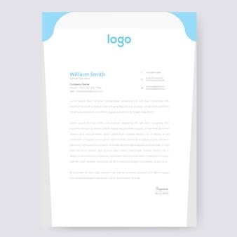 Onda design de papel timbrado