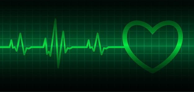 Onda do coração do ecg