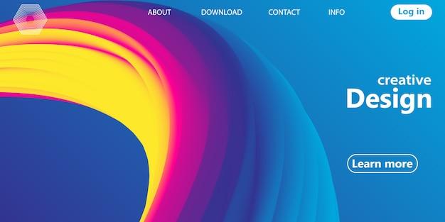 Onda. fundo do arco-íris. formas fluidas. padrão de onda. cartaz de verão. gradiente colorido. forma de fluxo. capa abstrata. rainbow color. ilustração. o fluxo de fluido.