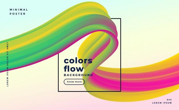 Onda gradiente colorida abstrata