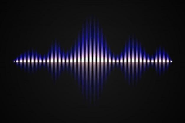 Onda sonora de música abstrata,