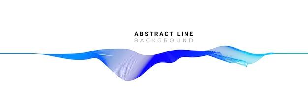 Onda sonora elegante linha fluida abstrata em fundo branco.
