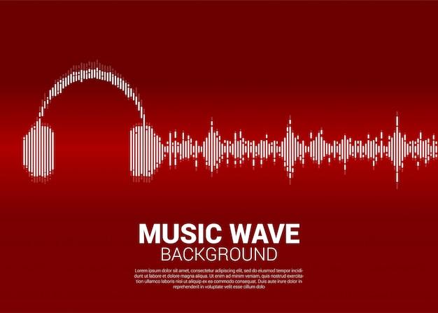 Onda sonora fundo de equalizador de música.