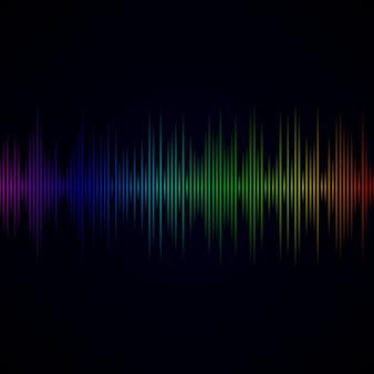 Onda sonora multicolor de fundo equalizador