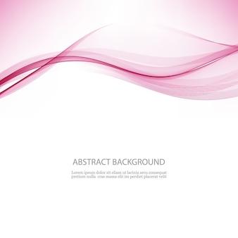 Onda transparente abstrata fundo de fluxo de onda rosa