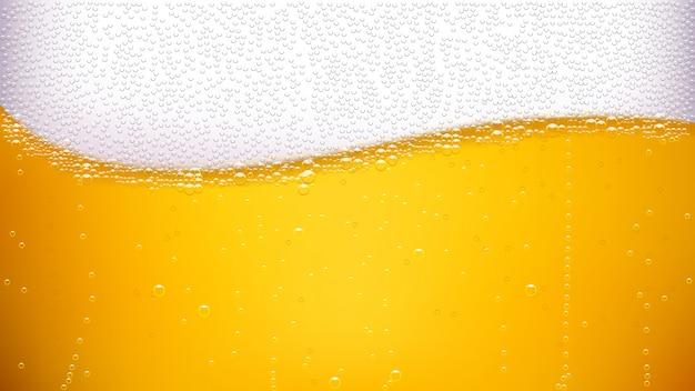 Onda traseira de cerveja