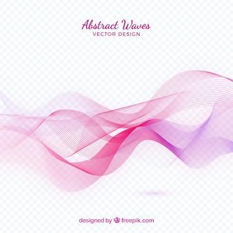 Ondas abstratas rosa
