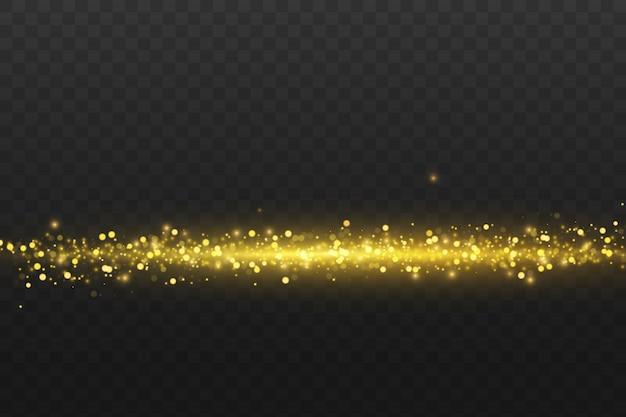 Ondas brilhantes, douradas e mágicas