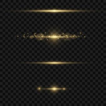 Ondas cintilantes com efeito de luz