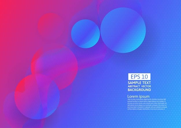 Ondas coloridas e design abstrato geométrico