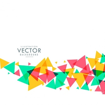 Ondas coloridas fundo do triângulo