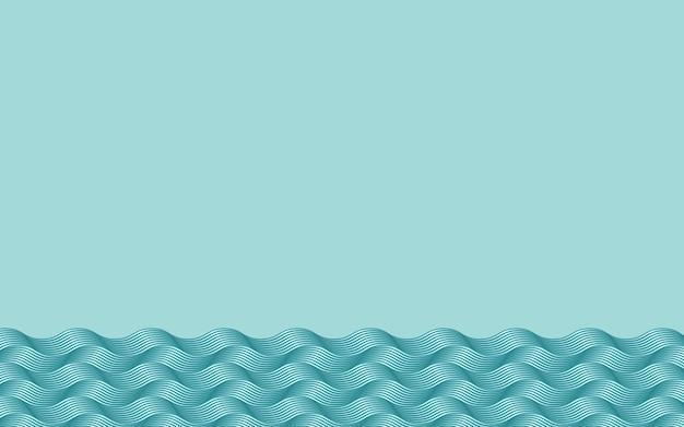 Ondas de água abstratas projetam gradiente de cor azul modelo de design de origami moderno ilustração vetorial