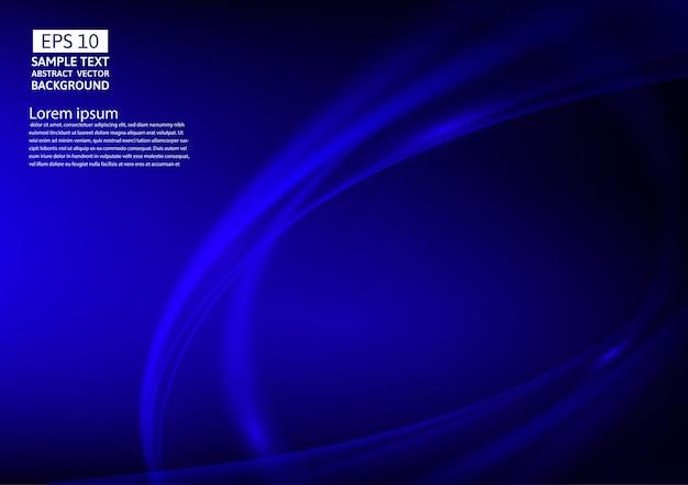 Ondas de cor azul abstraem design de plano de fundo