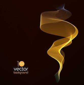 Ondas de cor brilhante sobre fundos escuros vector