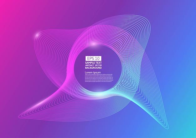 Ondas de linha de cor colorida abstraem design de plano de fundo