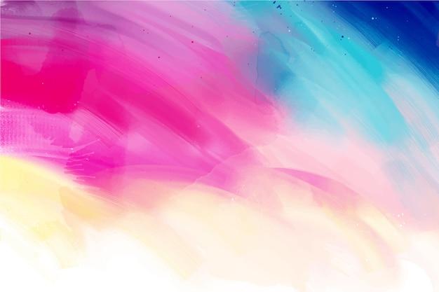 Ondas de mão pintada com fundo colorido