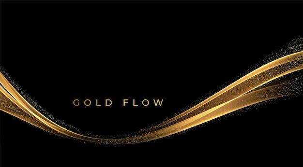 Ondas de ouro abstratas