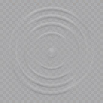 Ondas onduladas de respingos de água na superfície