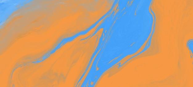 Ondas pintadas a óleo abstratas feitas à mão