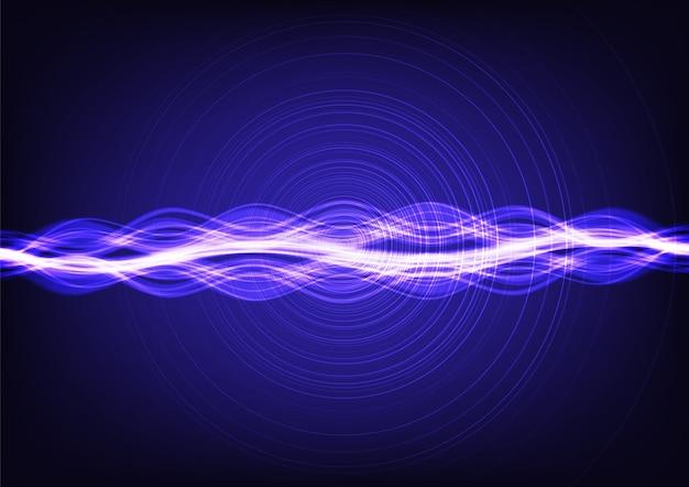 Ondas sadias de fluxo de néon ultra violetas de digitas.
